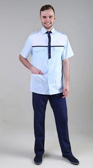 Куртка Состав: Тиси (35% хлопка/65% полиэстера) Куртка рубашечного типа с центральной бортовой застежкой на 7 кнопок. Полочка с кокеткой, с двумя накладными нагрудными карманами с клапанами из-под кок