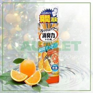"""""""ST"""" """"Shoushuuriki"""" Освежитель воздуха для туалета с ароматом апельсина, 330 мл"""