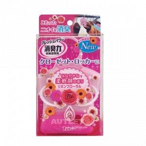 """""""ST"""" """"Shoushuuriki"""" Освежитель воздуха для шкафов на основе желе-сенсора с цветочным ароматом, 32гр"""