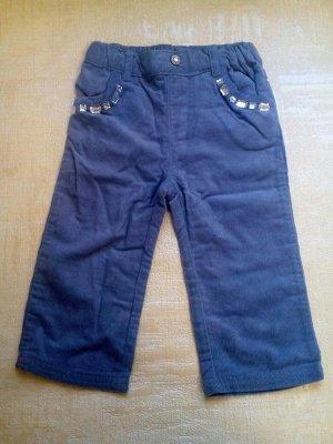 Вельветовые брюки с камушками серые
