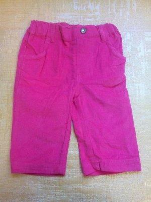 Вельветовые брюки розовые