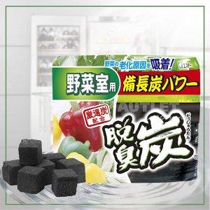 """""""ST"""" """"Dashshuutan"""" Желеобразный дезодорант с древесным углем """"Бинчотан"""" для холодильника, (камера для овощей и фруктов), 140 гр"""