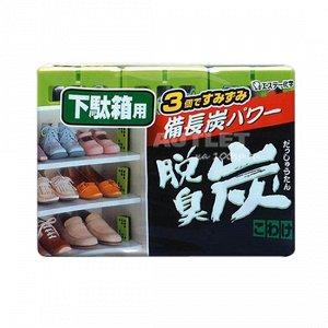 """""""ST"""" """"Dashshuutan"""" Желеобразный дезодорант с древесным углем """"Бинчотан"""" для обувных ящиков, 55 x 3"""