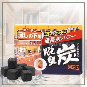 """""""ST"""" """"Dashshuutan"""" Желеобразный дезодорант с древесным углем """"Бинчотан"""" для кухонных ящиков, 55 x 3"""