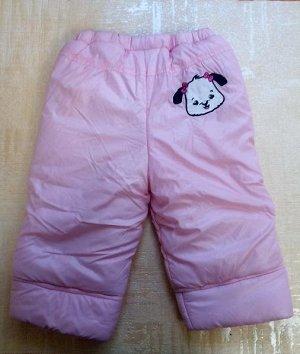 Бледно-розовые брюки на синтепоне