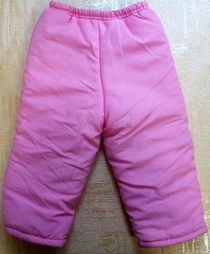 Розовые брюки на синтепоне