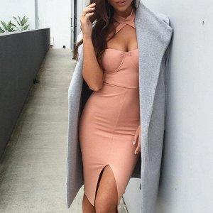 Элегантное холтер платье