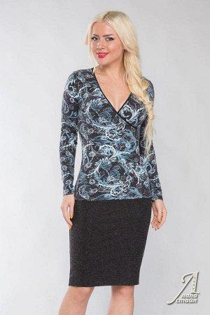 Блуза из теплого трикотажа