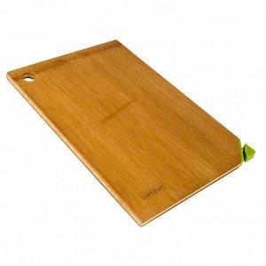 РД-10044 Доска разделочная  из бамбука (32*22*1,2см) (10)