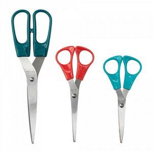 ТРОЙКА,Ножницы,3 штуки, разноцветный