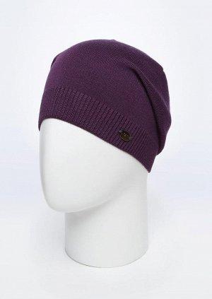 фиолетовый Состав:50% шерсть, 50% п/акрил Описание: Молодежная, стильная и яркая шапка подойдет каждому. Разнообразие цветов и хорошая износоустойчивость делает эту модель еще более привлекательной.