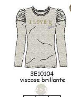 3E10104 TEE-SHIRT 251 : grey Ecru