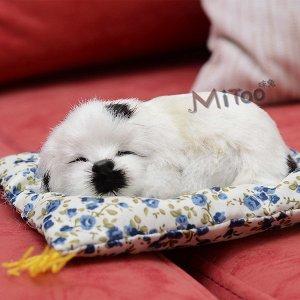 Игрушка Милый, спящий питомец. Отличный способ порадовать ребенка, который мечтает о щенке. При нажатии издает звук лая. Размер 12*9 см
