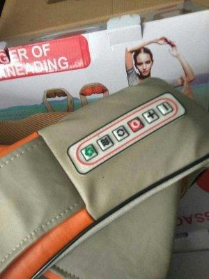 Массажер для шеи, плеч и спины с ИК-подогревом – Управление: 6 кнопок