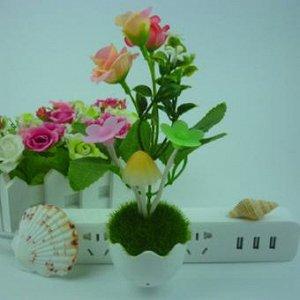 Светодиодный светильник-ночник с грибами и цветами
