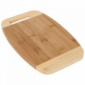 РД-00008 Доска разделочная  из бамбука (12) 28*18*1,5