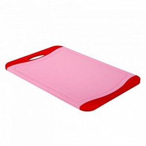 РД-10031 Доска разделочная пластик  (20) розовая 36,5х25см