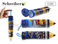 """Пенал-""""карандаш"""" пластиковый МАШИНКИ, 5х26 см"""