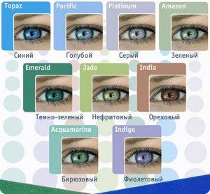 Цветные 1-мес контактные линзы Soflens Colors Amazon 8.7 -6.0 (2 линзы)