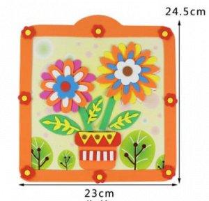 Цветы Размер с рамкой 24,5*23 см.