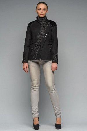 Шикарное Пальто с итальянскимикружеаом и нат. Мехом нерпа Bazhani