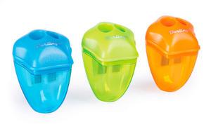 """Точилка пластиковая Berlingo """"Spike XL"""", 2 отверстия, контейнер, ассорти, дисплей"""