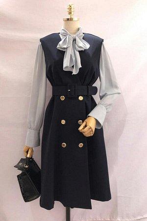 Стильное платье+рубашка на осень размер XL