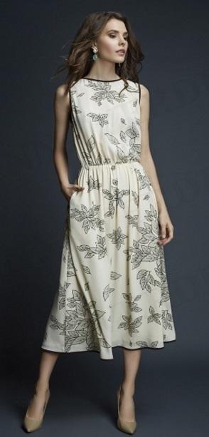 Летнее романтичное платье на 44-46 размер. Б/У, скидка