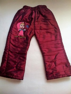 """Утепленные брюки """"Маша"""" бордовые"""