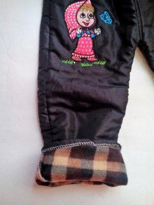 """Утепленные брюки """"Маша"""" черные"""