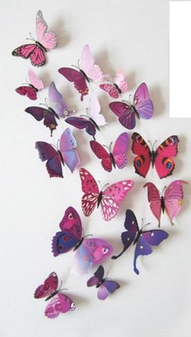Набор бабочек 3D