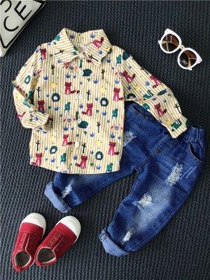 костюм (рубашка+джинсы)