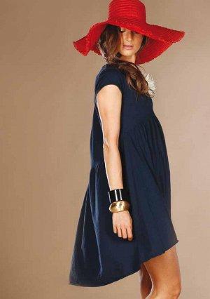 синее платье трикотаж хб на 46-48 р-р, Италия