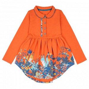 Платье для девочки, терракотовый