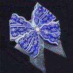 Красивый бант Отличница синий