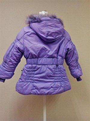 Теплая куртка с жилеткой сиреневая