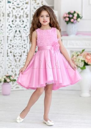 Нарядное платье с перепадом длины юбки