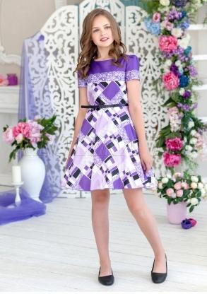 Легкое и яркое платье из атласной ткани с застежкой на молнию