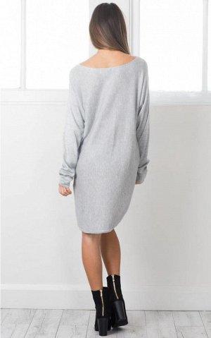 Платье-туника с удлинённой спинкой