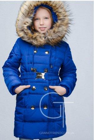 пальто зимнее, цвет электрик