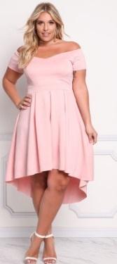 Одежда больших размеров! Платье с открытыми плечами