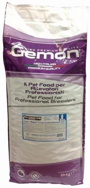 Gemon Cat PFB 32/13 корм для кошек тунец/лосось 20 кг