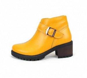 Ботинки кожа желтый демисезон