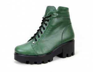 Ботинки натуральная кожа зеленый
