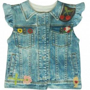 "Жилет на кнопках для девочки ""Fashion Jeans"""