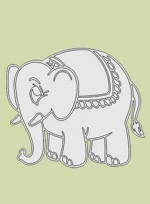 "Трафарет A4 ""Слон"""