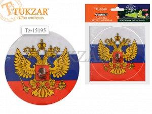 Светоотражающая наклейка ГЕРБ РОССИИ, d=12 см