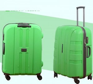 чемодан Чемодан из полипропилена. Больше фото внутри. Размеры на доп фото.  У этого чемодана четыре двойных колеса, каждое из которых может крутиться независимо от других на 360 градусов. Он закрывает