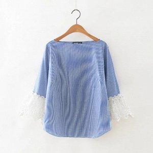 Блуза с шикарным кружевом, р-р 42-44