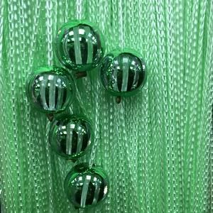 Нитяные шторы - Кисея! Огромный выбор, оптовая цена — Кисея однотонная с шарами плотная — Шторы